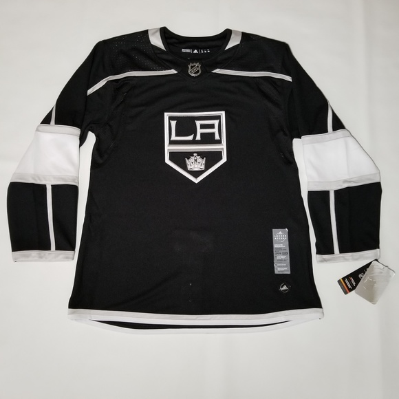 best sneakers 91ee1 a2c9f adidas LA Kings Authentic Home Hockey Jersey Black NWT